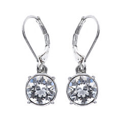Gloria Vanderbilt® Crystal Silver-Tone Drop Earrings
