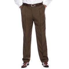 Savane® Crosshatch Pleated Dress Pants - Big & Tall