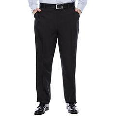 Savane® Crosshatch Flat-Front Dress Pants - Big & Tall
