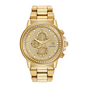Citizen® Eco-Drive® Nighthawk Mens Gold-Tone Chronograph Watch FB3002-53P