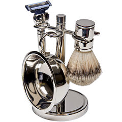 Harry D. Koenig 4-pc. Silver-Plated Shave Set For Men