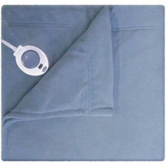 Safe and Warm™ Luxurious Micro Fleece Electric Warming Blanket