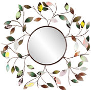 Briar Leaf Round Wall Mirror