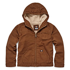 Dickies® Sherpa-Lined Duck Hooded Zip Jacket - Boys 8-20