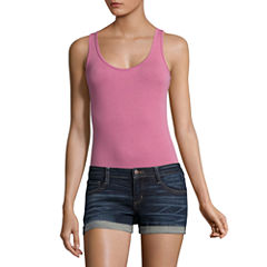 Flirtitude Scoop Neck Bodysuit-Juniors
