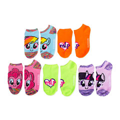 Girls 5 Pair My Little Pony No Show Socks