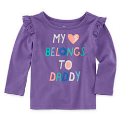 Okie Dokie Long Sleeve T-Shirt-Baby Girls