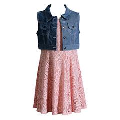 Young Land Sleeveless Fitted Sleeve Sundress - Preschool Girls