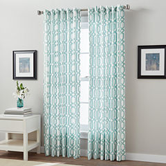 Interlock Link Back-Tab Curtain Panel