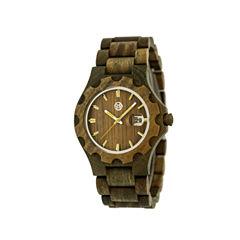 Earth Wood Gila Olive Bracelet Watch with Date ETHEW3304