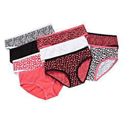Total Girl 9-pc. Hipster Panty Womens