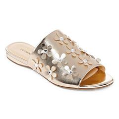 Liz Claiborne Leigh Womens Slide Sandals
