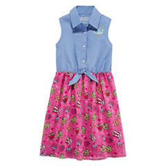 Shopkins Y Neck Sleeveless Dress - Big Kid Girls