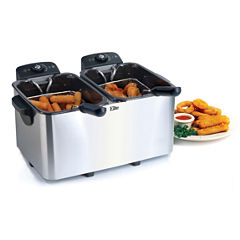 Elite Platinum EDF-3060 6-Quart Deep Fryer, Stainless Steel