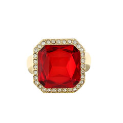 Monet Jewelry Womens Red Stretch Ring