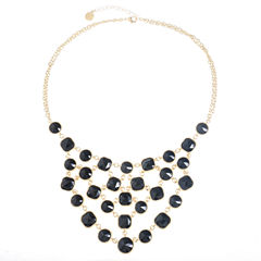 Monet Jewelry Black Statement Necklace