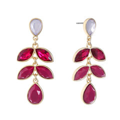 Liz Claiborne Purple Drop Earrings