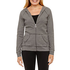 Silverwear Long Sleeve Knit Stripe Hoodie Petites