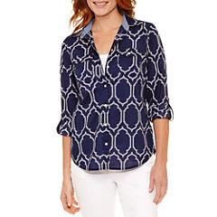 St. John's Bay Long Sleeve Button-Front Shirt