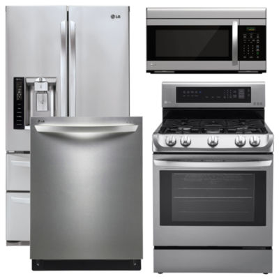 stainless steel kitchen appliance package. kitchen appliances