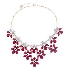 Liz Claiborne Purple Statement Necklace