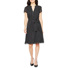 Msk Short Sleeve Shirt Dress