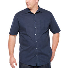 Claiborne Button-Front Shirt-Big and Tall