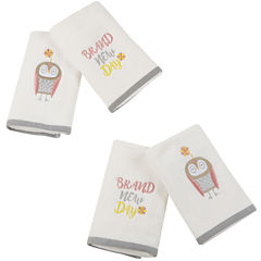 Happy Owl Cotton 4-pc. Hand Towel Set