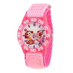 Disney Girls Pink Palace Pets Time Teacher Strap Watch W002832