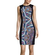 nicole by Nicole Miller® Printed Center-Panel Dress