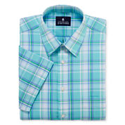 Stafford® Travel Short-Sleeve Easy-Care Broadcloth Dress Shirt - Big & Tall