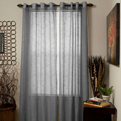 Cambridge Home Mia Jacquard Grommet-Top Curtain Panel
