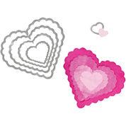 Sizzix® Framelits™ Dies, 5-pk. Scallop Hearts