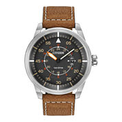 Citizen® Eco-Drive® Mens Brown Leather Watch AW1361-10H