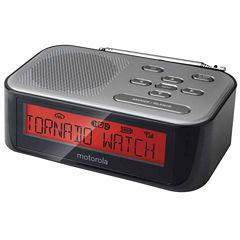 Motorola MWR822 Desktop Weather Radio and Alarm Clock