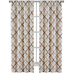 Richloom Addison 2-Pack Rod-Pocket Curtain Panels