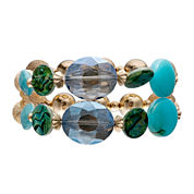 Mixit™ Gold-Tone Shell 2-Row Stretch Bracelet