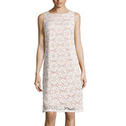 Ronni Nicole® Sleeveless Pinwheel Lace Sheath Dress