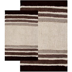 Chesapeake Merchandising Tuxedo Stripe 2-pc. Bath Rug Set