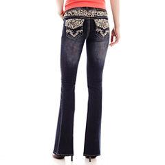 Soundgirl Metallic Lace Bootcut Jeans