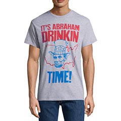 Abraham Drinkin Time Short-Sleeve Graphic T-Shirt