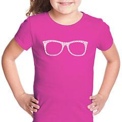 Los Angeles Pop Art Sheik To Be Geek Short Sleeve Graphic T-Shirt Girls