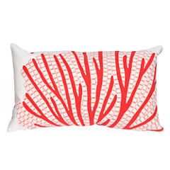 Liora Manne Visions Iii Coral Fan Rectangular Outdoor Pillow
