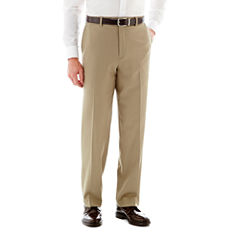 Savane® Flat-Front Crosshatch Dress Pants