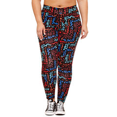 Flirtitude High Waist Leggings- Juniors Plus