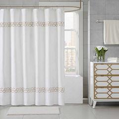 Madison Park Signature Copula Embroidered Shower Curtain