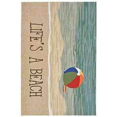 Liora Manne Frontporch Life'S A Beach Hand Tufted Rectangular Rugs