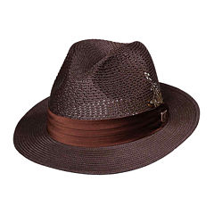 Stacy Adams® Straw Pinch-Front Fedora