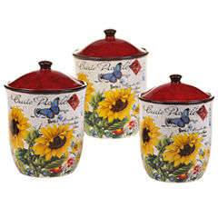 Certified International Sunflower Meadow 3-pc. Canister Set