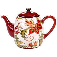 Certified International Spice Flowers Teapot